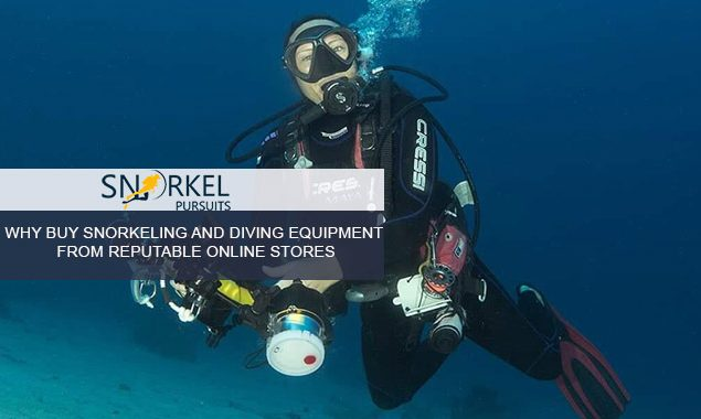 WHY BUY SNORKELING AND DIVING EQUIPMENT FROM REPUTABLE ONLINE STORES