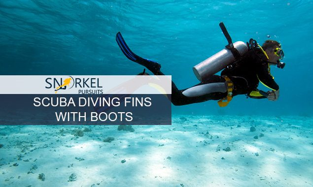 SCUBA DIVING FINS WITH BOOTS