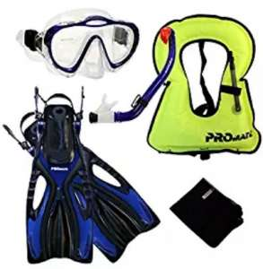 Promate Kids Snorkel Set with Vest