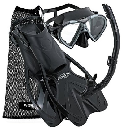 phantoma aquatics snorkel set review
